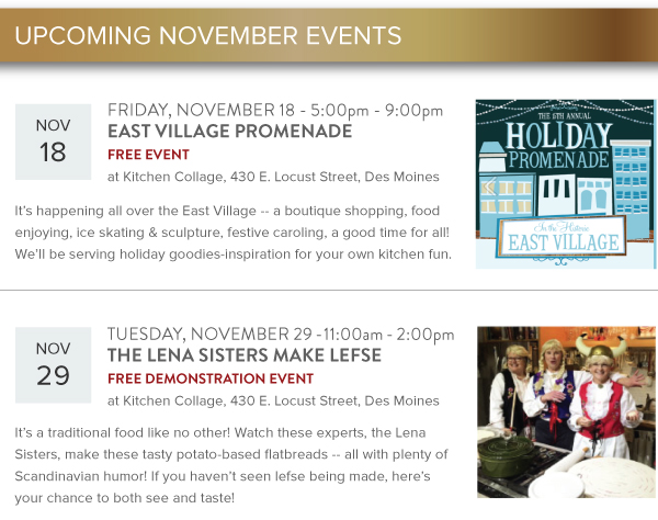 Upcoming November Events