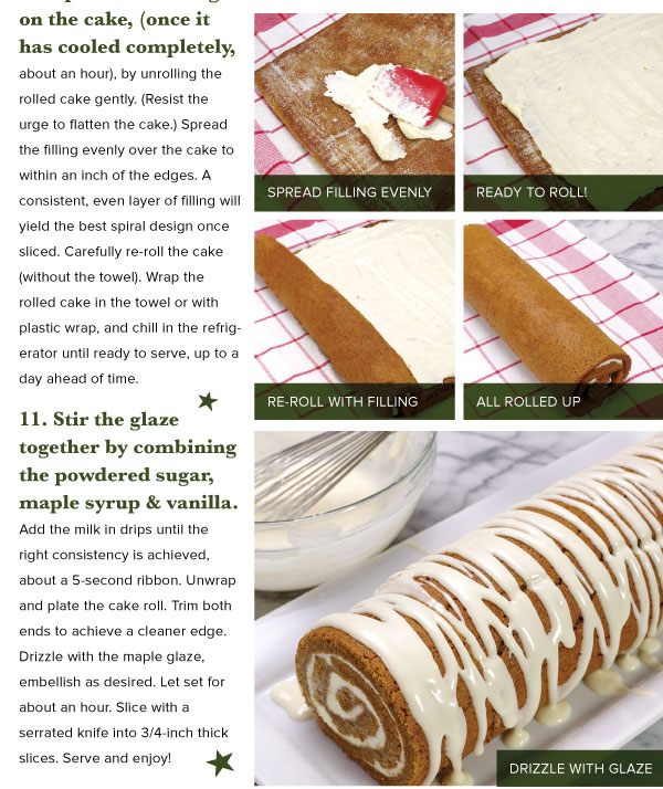 Gingerbread Cake Roll