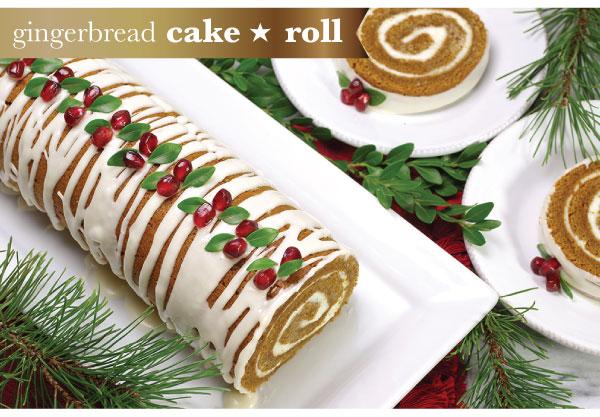Gingerbread Cake Roll