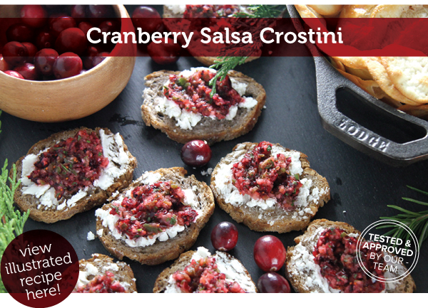 RECIPE: Cranberry Salsa Crostini