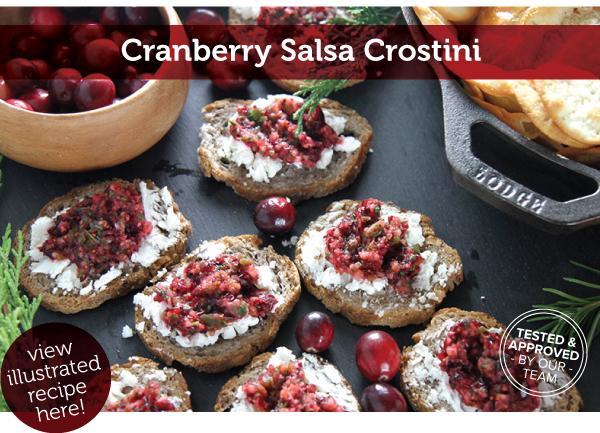 RECIPE: Cranberry Salsa Crostini