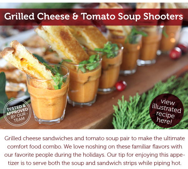 RECIPE: Grilled Cheese and Tomato Soup Shooters