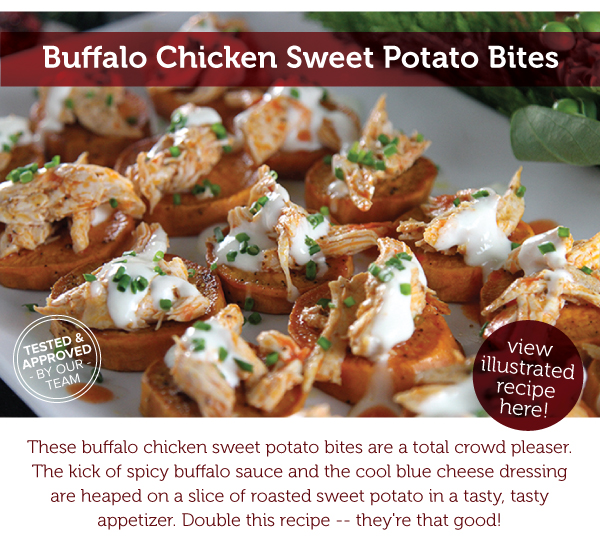 RECIPE: Buffalo Chicken Sweet Potato Bites