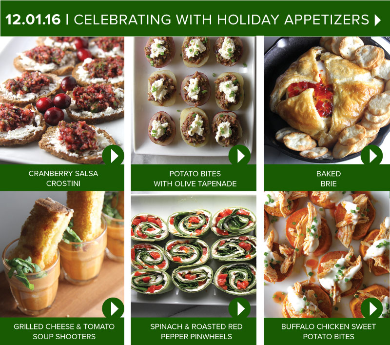 Celebrating with Holiday Appetizers