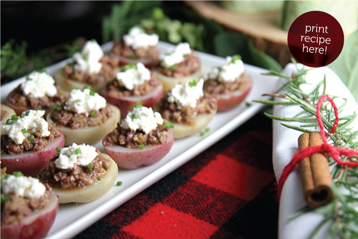 Olive Tapenade Potato Bites