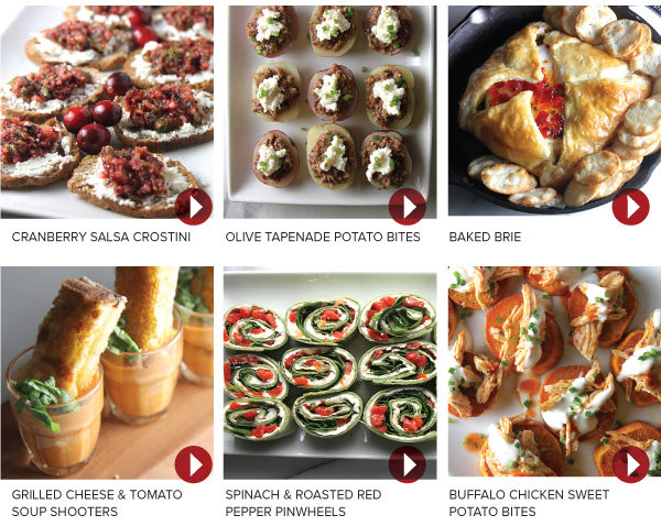 Six Holiday Appetizers