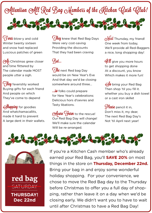 Red Bag Thursday