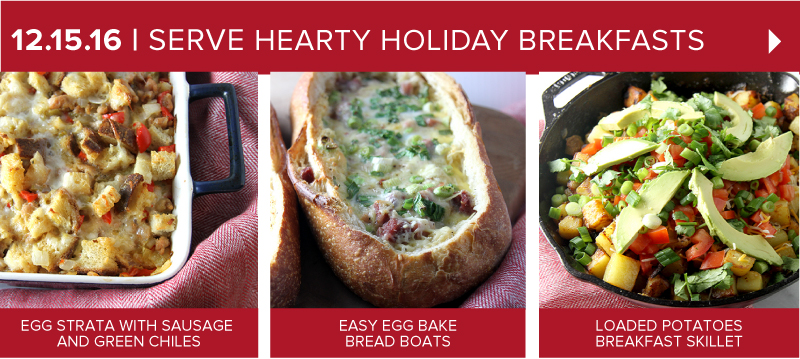 Serve Hearty, Holiday Breakfasts