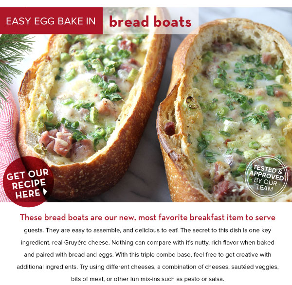 Easy Egg Bake in Bread Boats