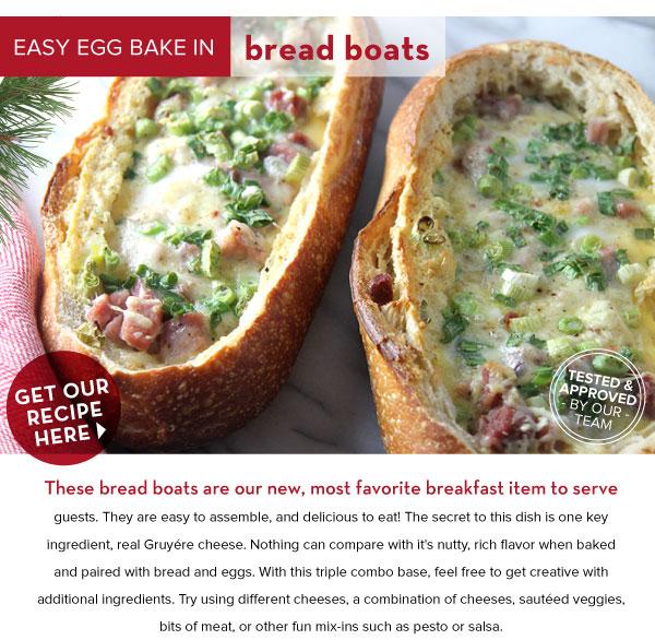 Easy Egg Bake in Bread Boats