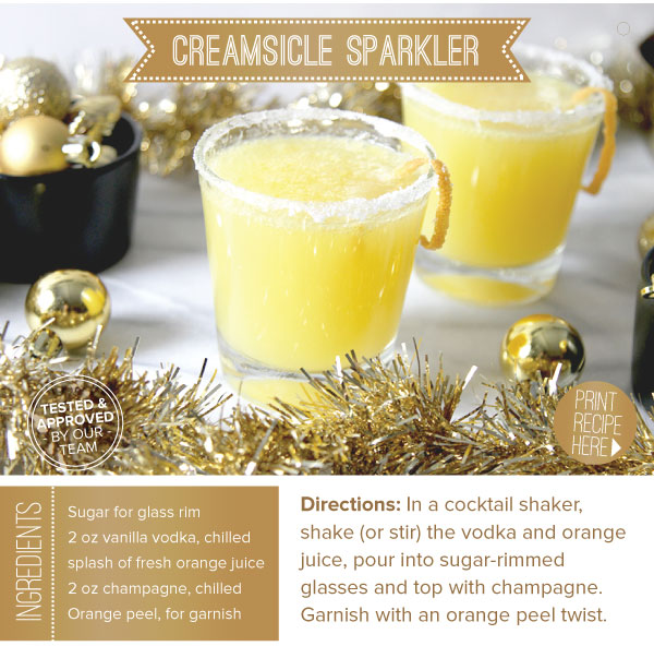 RECIPE: Creamsicle Sparkler