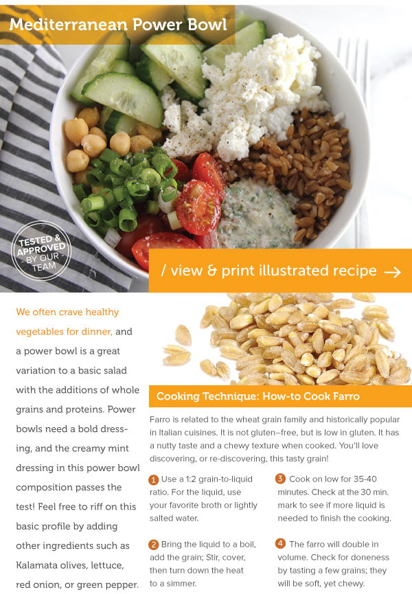 RECIPE: Mediterranean Bowl