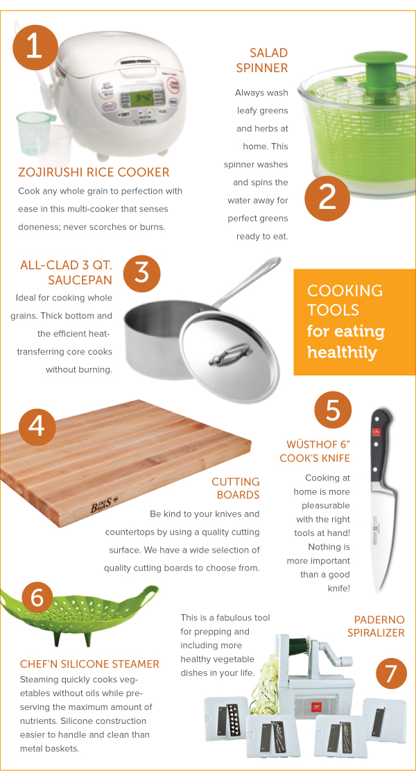 Cooking Tools for Eating Healthy