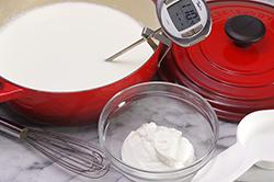 Milk Cooked in Pot