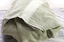 Pot wrapped in Towel
