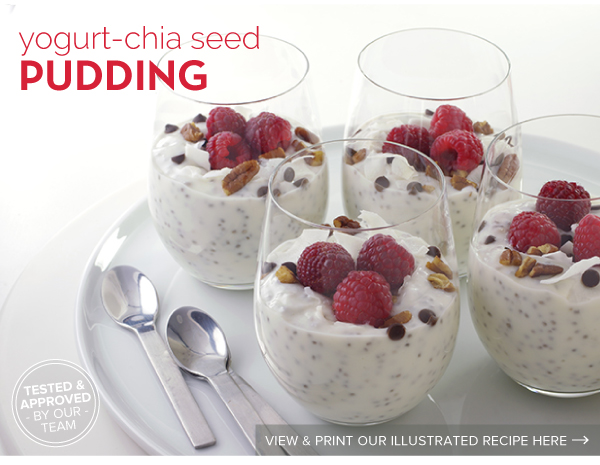 RECIPE: Yogurt-Chia Seed Pudding