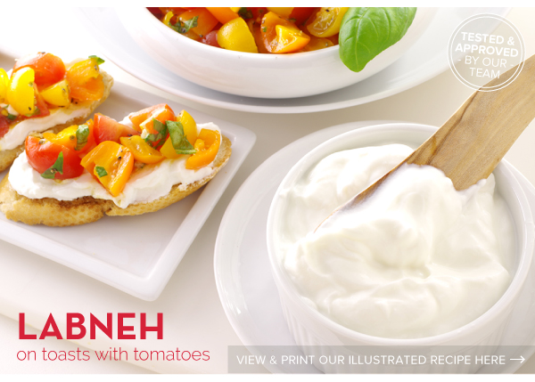 RECIPE: Labneh on toast with Tomatoes