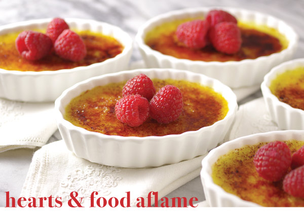 Hearts and Food Aflame