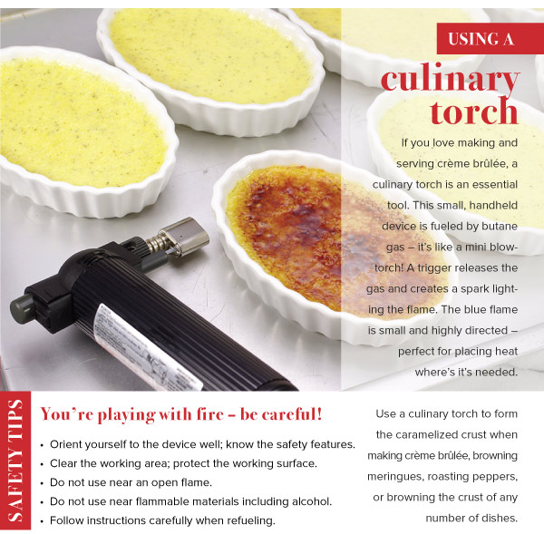 Using a Culinary Torch