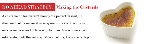 Do Ahead Strategy: Making the Custards