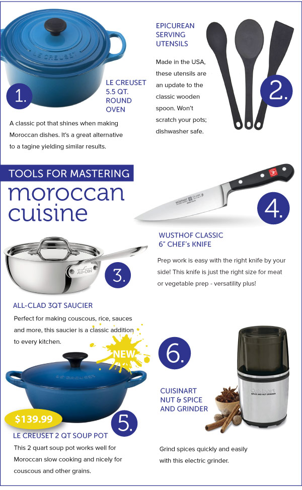 Tools for Mastering Moroccan Cuisine