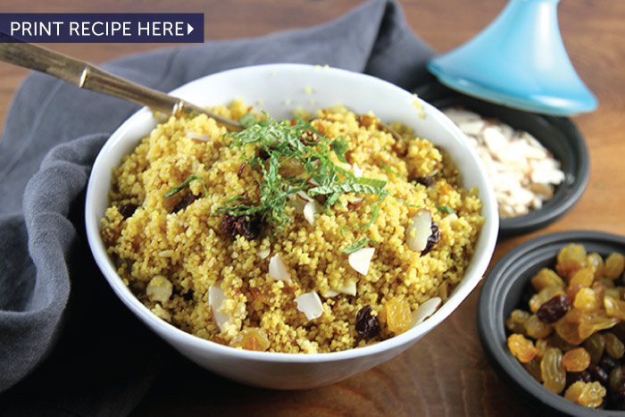 Saffron Couscous with Caramelized Onions