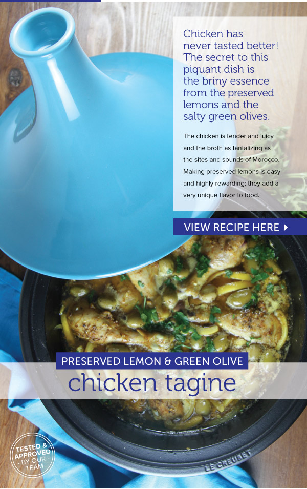 RECIPE: Preserved Lemon and Green Olive Tagine