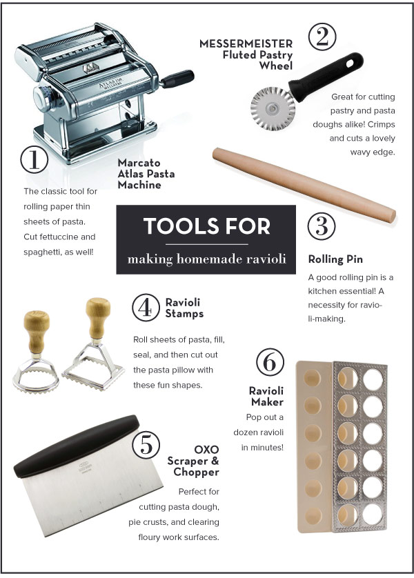 Tools for Making Homemade Ravioli