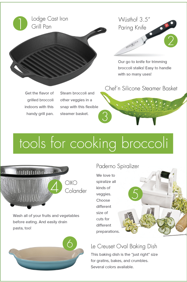 Tools for Cooking Broccoli
