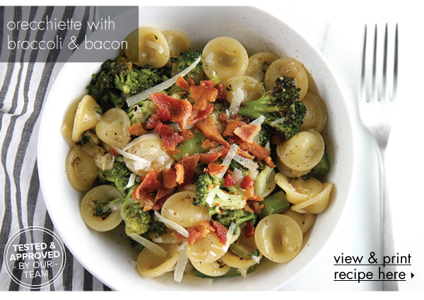 RECIPE: Orecchiette with Broccoli and Bacon