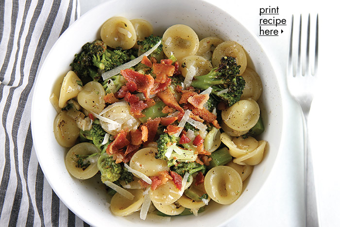 Orecchiette with Broccoli & Bacon