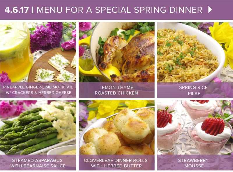 Spring Dinner Menu