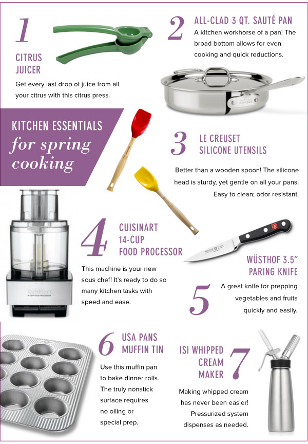 Kitchen Essentials for Spring Cooking