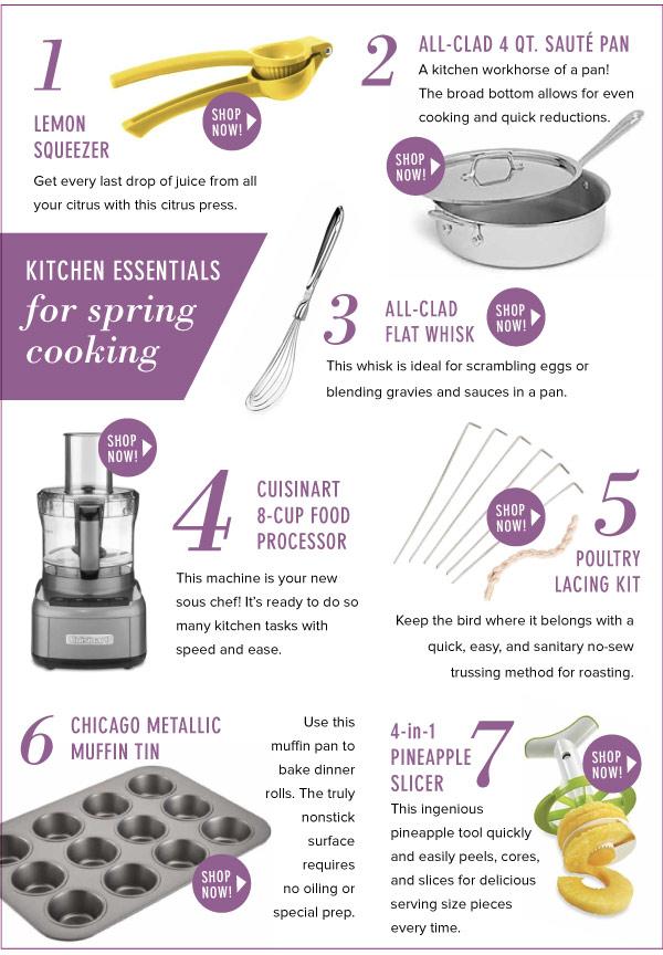 Kitchen Essentials for Spring Cooking