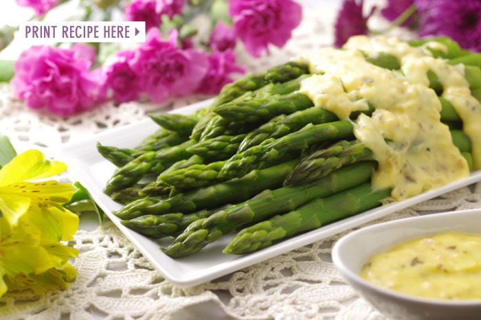 Asparagus with Bearnaise Sauce