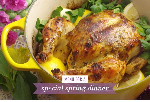 A Menu for a Special Spring Dinner