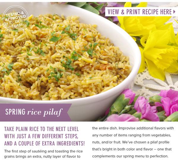 RECIPE: Spring Rice Pilaf