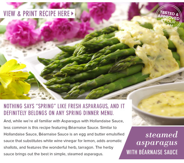 RECIPE: Steamed Asparagus with Bearnaise Sauce
