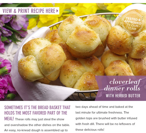 RECIPE: Cloverleaf Dinner Rolls