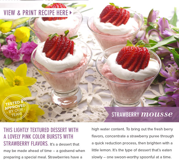 RECIPE: Strawberry Mousse