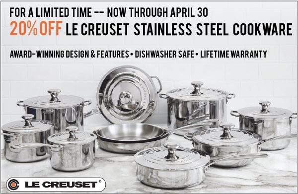 Le Creuset Stainless Sale