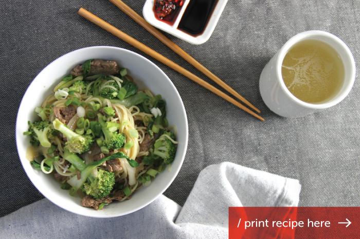 Beef, Broccoli & Baby Bok Choy Lo Mien