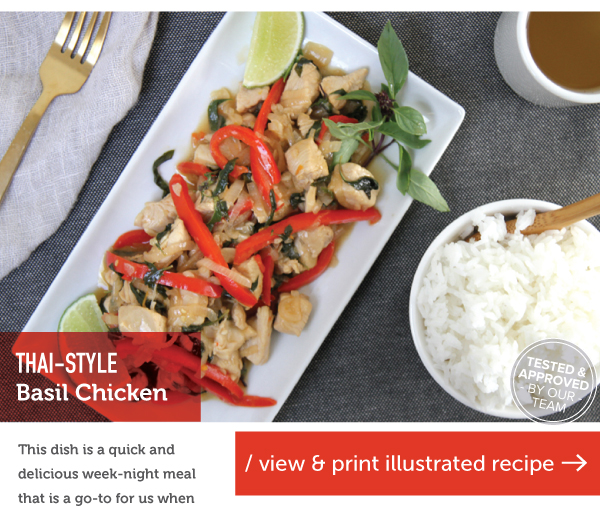RECIPE: Thai-Style Basil Chicken