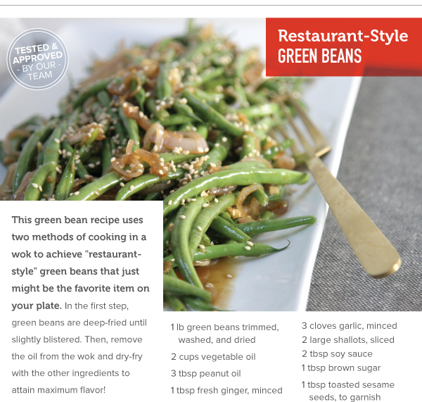 RECIPE: Restaurant-Style Green Beans