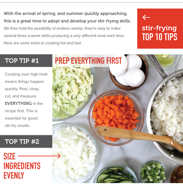 Stir-Frying Top 10 Tips