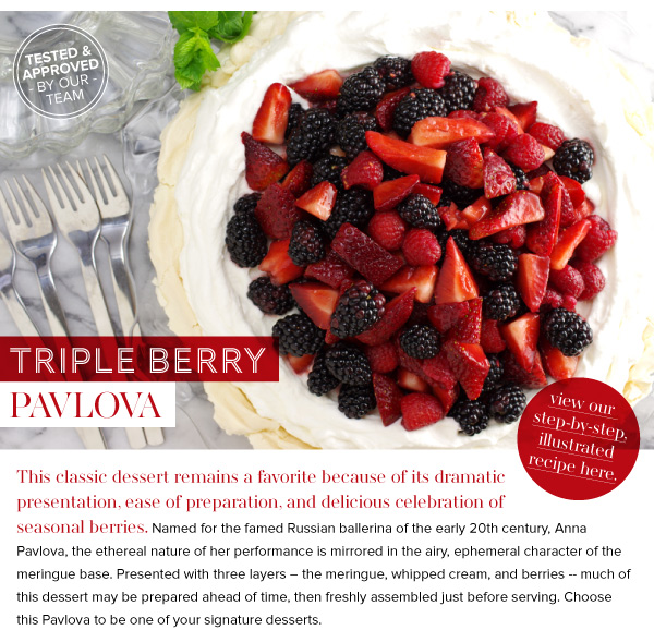 RECIPE: Triple Berry Pavlova