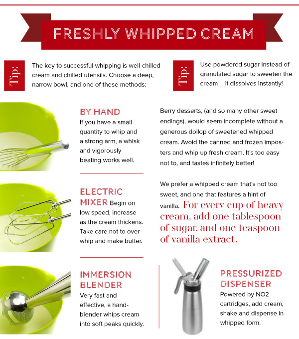 Freshly Whipped Cream