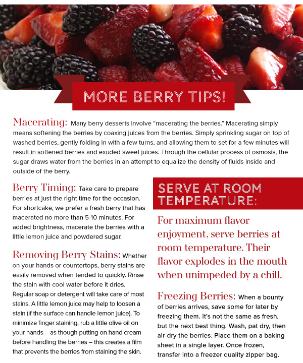 More Berry Tips