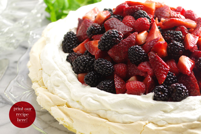 Triple Berry Pavlova