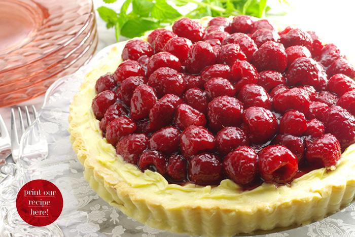 Raspberry Vanilla Custard Tart